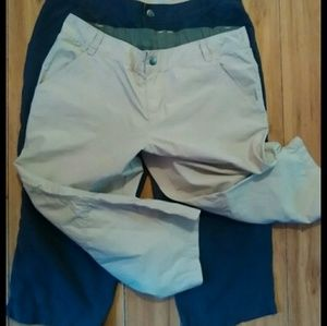 2#bundle Columbia khaki capris#pockets